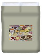 Mixed Spices In Market Of Cairo Egypt Duvet Cover