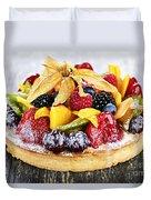 Mixed Tropical Fruit Tart Duvet Cover