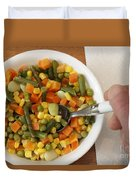 Mixed Vegetables Meal Duvet Cover