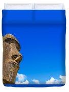 Moai And Blue Sky Duvet Cover
