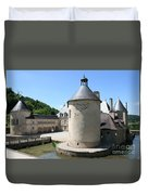 Moated Castle - Bussy Rabutin - Burgundy Duvet Cover
