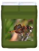 Mocha And Cream Dragonfly Profile Duvet Cover