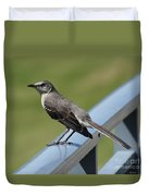 Mockingbird Perched Duvet Cover
