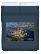 Moclin Castle From The Air Duvet Cover