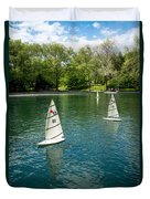 Model Boats On Conservatory Water Central Park Duvet Cover
