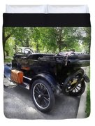 Model T With Luggage Rack Duvet Cover
