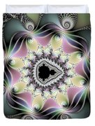 Modern Abstract Fractal Art Metallic Colors Square Format Duvet Cover