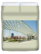 Modern Architecture In Shanghai China Duvet Cover