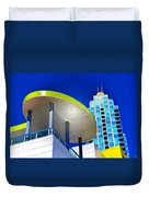 Modern Architecture With Blue Sky Duvet Cover