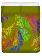 Modern Art Abstract Fractal Green Background Duvet Cover