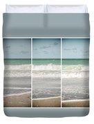 Modern Beach Tryptych Duvet Cover