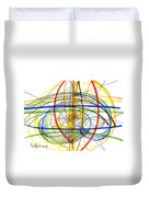 Modern Drawing Fourteen Duvet Cover