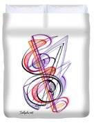 Modern Drawing Sixty-two Duvet Cover