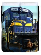 Modern Train Engine Duvet Cover