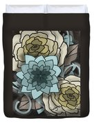 Modern Water Lily Duvet Cover