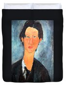 Modigliani's Chaim Soutine Up Close Duvet Cover