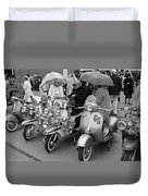 Mods Scooters Duvet Cover