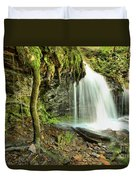 Mohawk Falls At Ricketts Glen Duvet Cover