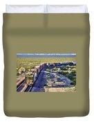 Mojave Desert Train By Diana Sainz Duvet Cover