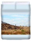 Mojave Desert Landscape Duvet Cover