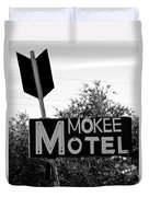 Mokee Motel Sign Circa 1950 Duvet Cover