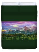 Molas Pass Sunset Panorama Duvet Cover