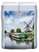 Molen Van Sloten And River Duvet Cover