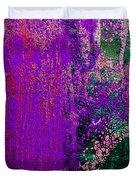 Molten Earth Purple Duvet Cover