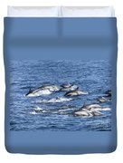 Mom And Baby On The Go Duvet Cover