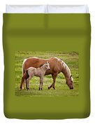 Mom And Foal 2 Duvet Cover