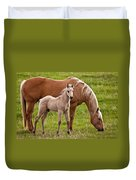 Mom And Foal Duvet Cover