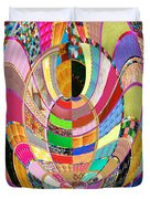 Mom Hugs Baby Crystal Stone Collage Layered In Small And Medium Sizes Variety Of Shades And Tones Fr Duvet Cover