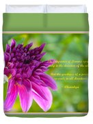 Moment Of Bloom Duvet Cover