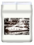 Momousse Yacht In Montreal Duvet Cover