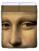 Mona Lisa    Detail Duvet Cover by Leonardo Da Vinci