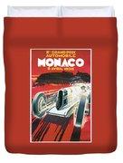 Monaco Grand Prix Vintage Poster Duvet Cover