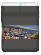 Monaco Panorama Duvet Cover by David Smith