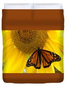 Monarch And Sunflower Duvet Cover