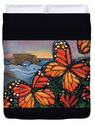 Monarch Butterflies At Natural Bridges Duvet Cover by Jen Norton