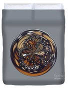 Monarch Butterfly Abstract Duvet Cover
