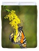 Monarch Butterfly On Goldenrod Duvet Cover