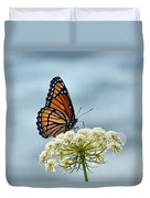 Monarch Butterfly On River Duvet Cover