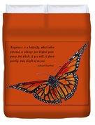 Monarch Butterfly Pismo Beach Duvet Cover