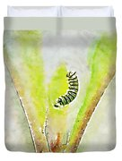 Monarch Caterpillar - Digital Watercolor Duvet Cover