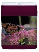 Monarch On Sedum Duvet Cover