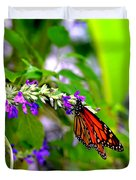 Monarch With Sweet Nectar Duvet Cover