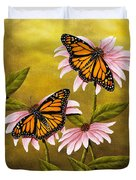 Monarchs And Coneflower Duvet Cover