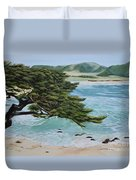 Monastery Beach Duvet Cover