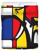 Mondrian Bike Duvet Cover
