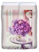 Monet Purple Pedestal Duvet Cover